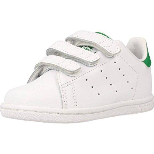 adidas Unisex-Kinder Stan Smith Fitnessschuhe, Weiß (Ftwbla/Verde 000), 25 EU