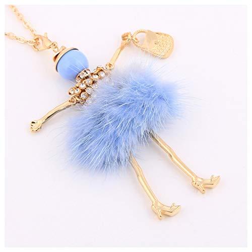 Collar Colgante Nuevo collar de conejo para mujer, gargantilla grande, cadena larga, collares de conejito femenino, joyería de moda fina Navidad Día de la Madre Día de San Valentín cumpleaños regalo