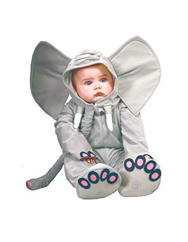 Guirca - Disney 81089 Déguisement éléphant bébé, gris, 12 à 24 mois, couleur 81089
