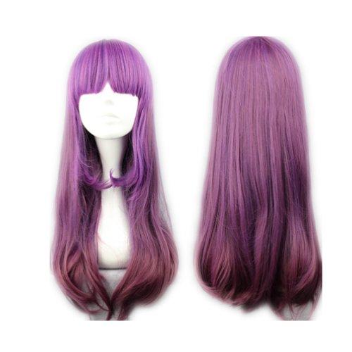 Peluca Cosplaza cosplay gótica de Lolita para disfraz, largo de 60cm, color lila