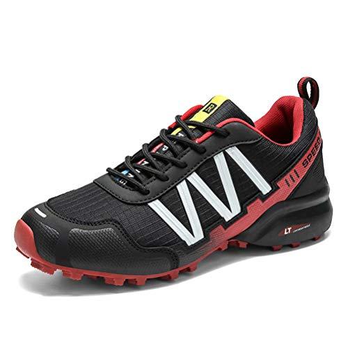Zapatillas de Trekking Hombre Transpirable Zapatillas de Senderismo Antideslizante Zapatillas de Montaña Al Aire Libre