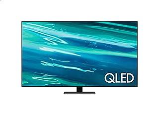 تليفزيون سمارت كيو ال اي دي 55 بوصة 4K الترا اتش دي بريسيفر مدمج من سامسونج، اسود - QA55Q80AAUXEG