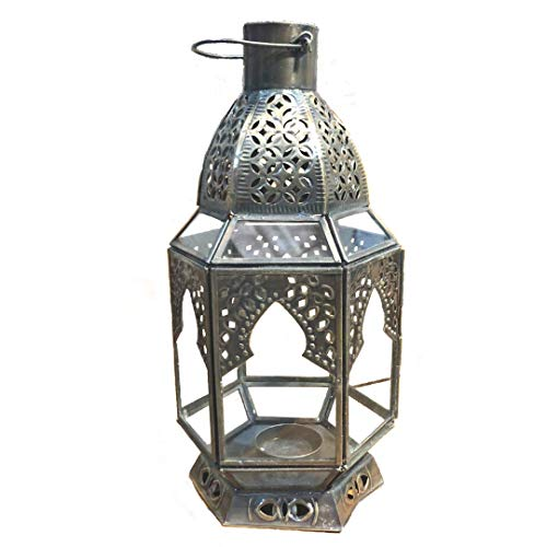 Farol de mesa marroquí – Vela votiva – latón