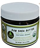 Unrefined Raw Shea Butter - Certified Organic; Premium, Imported African Ivory (Tan); 13.5 OZ Large Dark BPA Free JAR; Moisturizer Face, Body, Skin, Hair; Ingredient DIY Home Made Body Butters Skincare