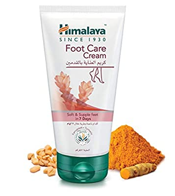 Himalaya Herbals Foot Care Cream, 75g for Dry and Cracked Heels with Skin Moisturizer. Foot antiseptic and antimicrobial cream made from natural ingredients.