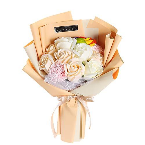 Lalaluka Cabezas de rosas artificiales, flores decorativas, flores artificiales, flores artificiales, flores artificiales, plantas DIY, ramos de boda, novia, decoración del hogar (1 unidad, B)