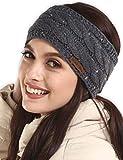 Womens Winter Ear Warmer Headband - Cable Knit Fleece Lined Ear...