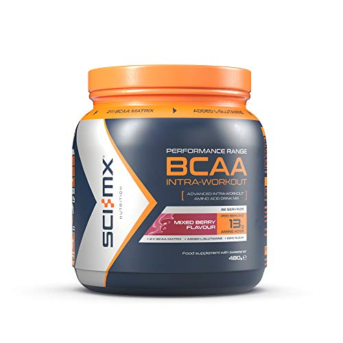 SCI-MX Nutrition BCAA Intra-Workout, Amino Acid Drink, 480 g, Mixed Berry, 32 Servings