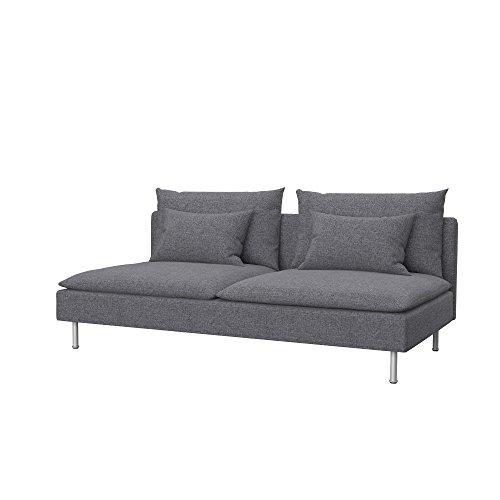 Soferia - IKEA SÖDERHAMN Funda para sofá Cama, Naturel Grey