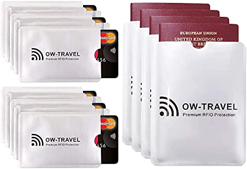 RFID Card Protector Sleeves (10 Pack) and Passport Cover (4 Pack)....