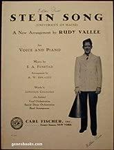 Stein Song ( La Chanson Du Bock ) : University of Maine ( With Alternative Version ) - Vintage Sheet Music