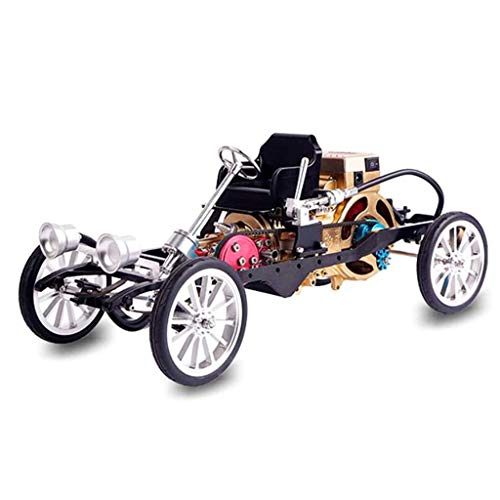 WJH Mini Motor monocilíndrico de Ensamblado de Montaje de automóviles de Juguete Modelo de descompresión mecánica Inicio Retro Adorno