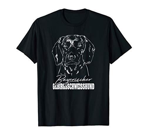 Bayerischer Gebirgsschweisshund Hundportrait Jagdhunde BGS T-Shirt