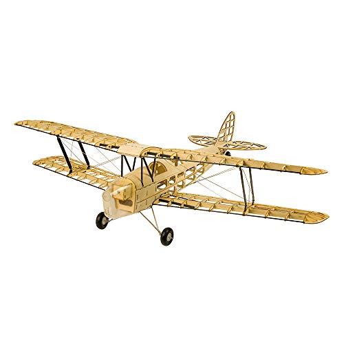 Mobiliarbus Holz Flyer Modell Bausatz S1901 Balsaholz RC Flugzeug Tiger Moth Fernbedienung Doppeldecker Zerlegt KIT Version DIY Flugmodell für Jungen und Mädchen