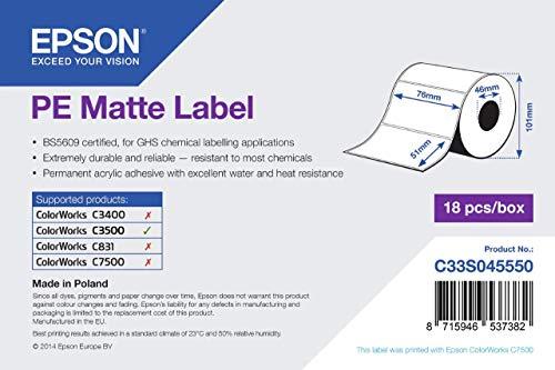 Epson Premium matte Label, 76 x 51 mm, 535 Stück