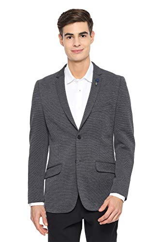 Van Heusen Men's Notch Lapel Slim fit Blazer (VDBZESLFT74499_Grey_46)