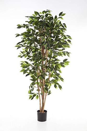 artplants.de Ficus Artificial Avellino con 430 Hojas Verdes, 120cm - Planta Decorativa - Árbol de ficus