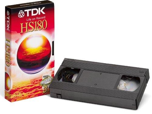 TDK VHS Videokassette HS-180 (180 Minuten Laufzeit) 1 Stück