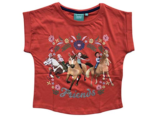 SPIRIT - Maglietta 'Riding Free Shir' Colore: rosso 128 cm