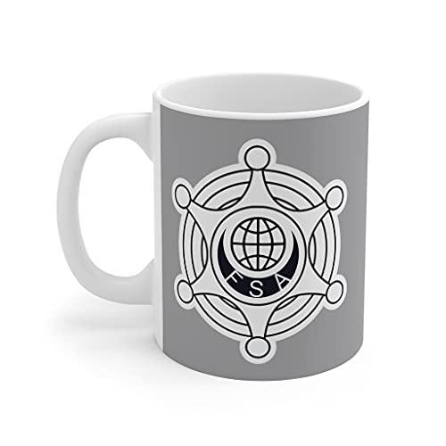 Funny Outland - Taza de café de la Agencia de Seguridad Federal de 11 onzas para el trabajo familiar oficina interesante jefe de la taza de té para el regalo de amigo hombre mujer 11 oz