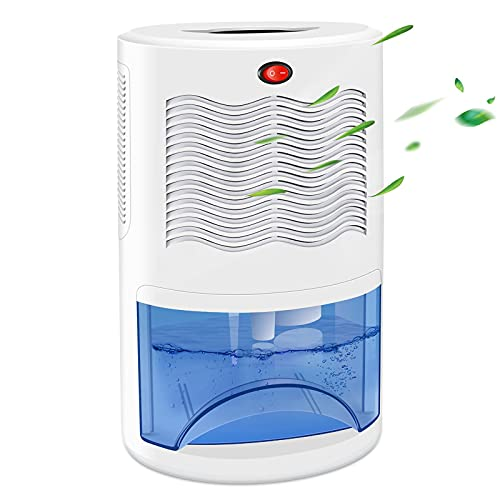 COSVII Small Dehumidifier for Home with 68oz Water Tank, Up to 480 Sq.Ft Portable Electric Mini Dehumidifier with Ultra Quiet Dehumidification for Bathroom Bedroom Basement Kitchen Closet RV