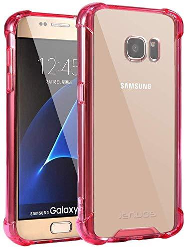Samsung Galaxy S7 Hülle, Jenuos Crystal Clear Transparent Bumper TPU Silikon Handyhülle Durchsichtig Schutzhülle Case für Samsung Galaxy S7 5.1