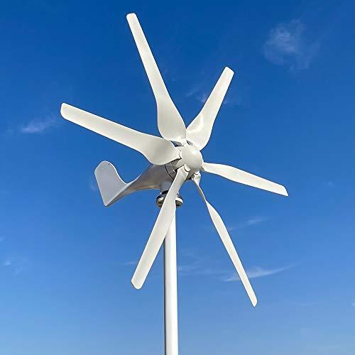 800W turbina eólica 12v 24v 48v generador de viento de alta eficiencia aerogenerador eolico para casa yate granja molino de viento (48V con controlador)