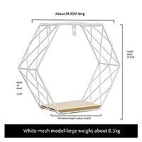 UOTY フラワーポットホルダーアイアン六角格子壁の棚の組み合わせ屋内屋外の装飾オフィスガーデニング、モール装飾のための幾何図デコレーションハンギング (色 : E)