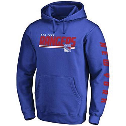 MILAOSHU Männer NHL Hockey Trikot New York Rangers Hoodie Sweatshirt T-Shirt Pullover Freizeitkleidung Herbst Und Winter Thermo-Mäntel (Größe S-5XL