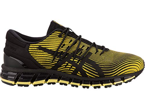 ASICS Men's Gel-Quantum 360 4 Running Shoes Performance Black/Tai Chi Yellow Nylon Running Shoes 8 D US thumbnail