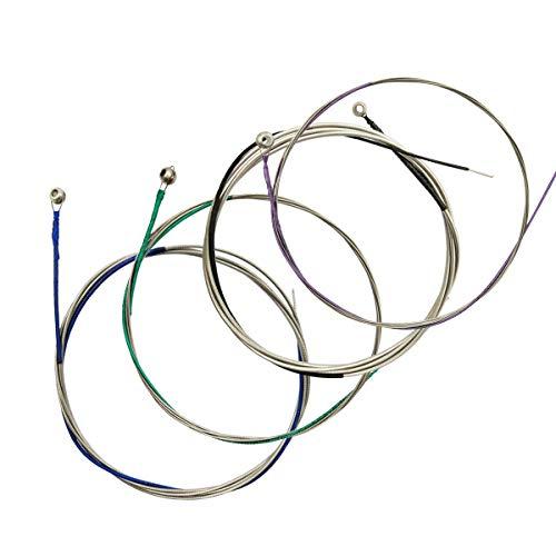 Cellosaiten 1 komplettes Set A-D-G-C Stahlkern Nickel Chromumwicklung für Größen 1/4 & 1/2 & 3/4 & 4/4