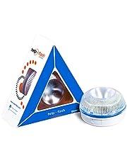 HELP FLASH 1 Smart Luz de Emergencia Autónoma Señal V16 de Preseñalización de Peligro, Homologada, Autorizada por la DGT, Amarillo