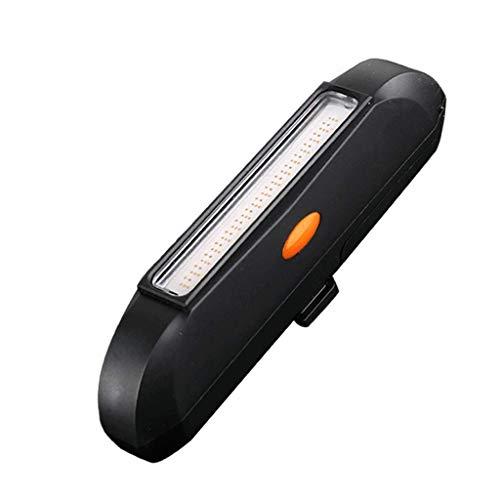 CAIM- Eclairage avant Feux arrières de Nuit Feux tricolores COB tricolores Feux d'avertissement, Accessoires et équipement Knight (Color : Black)