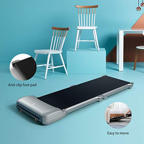 WalkingPad C1 Foldable Treadmill Walking Pad Smart Jogging Exercise Fitness Equipment, Free Installation Low Noise Footstep Induction Speed Control,Folding Under Desk 0-3.72mile/Hour