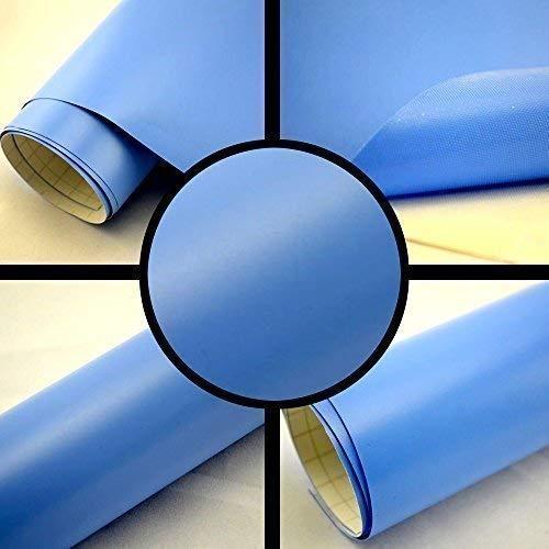 TipTopCarbon 6,58€/m² Autofolie Matt Hellblau 0,3m x 1,52m Auto Folie BLASENFREI mit Luftkanälen 3D Flex