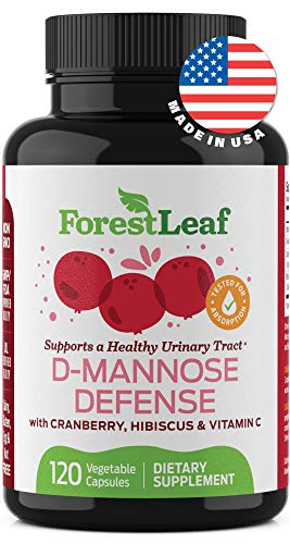 D-Mannose Defense Supplements – Safe, Natural Cleansing Formula for Urinary Tract and Bladder Health- Helps Prevent UTI and Promotes Healthy Immune System and Gut Flora - 120 Capsules - by ForestLeaf