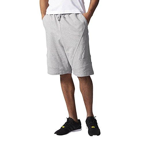 adidas Pantalones Cortos Modernos de Calle de Hombre #AJ7615 - gris - XX-Large