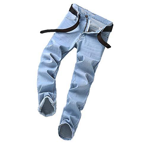 N\P Pantalones vaqueros rectos primavera y otoño invierno grueso elástico pantalones