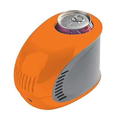 FQY-BX Mini réfrigérateur Réfrigérateur 0.35L Petite Boisson Maison Mini-réfrigérateur USB Charge Voiture Auberge 17 * 10.6 * 13cm -Multi-Couleur en Option (Color : Orange)