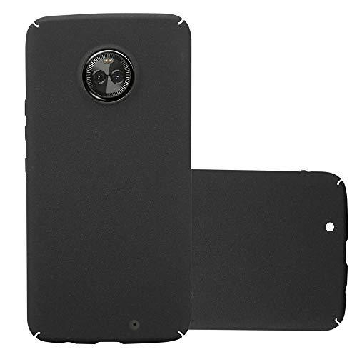 Cadorabo Hülle für Motorola Moto X4 in Frosty SCHWARZ - Hardcase Handyhülle aus Plastik gegen Kratzer & Stöße - Schutzhülle Bumper Ultra Slim Back Hülle Hard Cover