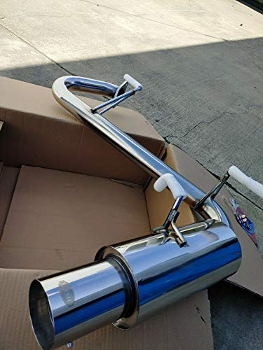 Mutazu Stainless Steel Aggressive Axle-Back Exhaust Muffler For Mazda Miata NB 1999-2005 Longitude mounting (MX3-023)