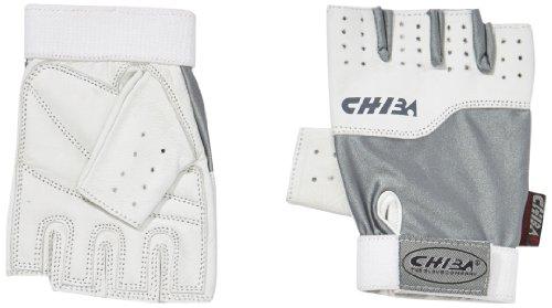 Chiba Gants d'entraînement Unisexes pour Homme, Gris/Blanc, Taille XL