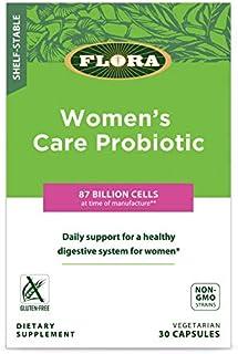 FLORA - Women's Care Probiotic, Shelf-Stable for Digestive & Vaginal Health, 87 Billion CFU, 30 Count