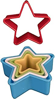 5-Piece Plastic Fondant Cookie Cutter Star   DIY Cutters Molder for Biscuits Icing Cakes and Pastry