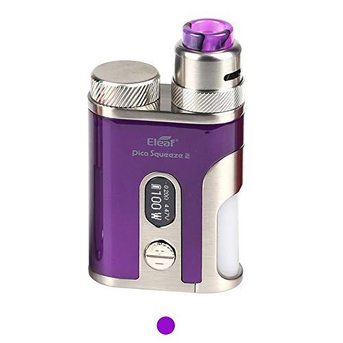 Eleaf iStick Pico Squeeze 2 電子タバコ VAPE ベイプ 100W Mod Kit + AVB 21700 電池付き セット イーリーフ アイスティック ピコ 高性能 コンパクト 禁煙 全5色 (パープル)