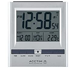 Height 95, Width 85, Depth 40cm. LCD display.Crescendo alarm. Snooze function.Calendar.