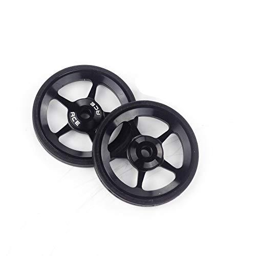 2pcs ACE Alloy Easy Wheels Easywheel for Brompton Folding Bike Dino Kiddo(Black