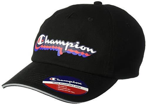 Champion Herren Neighborhood Dad Adjustable Baseball Cap, schwarz, Einheitsgröße