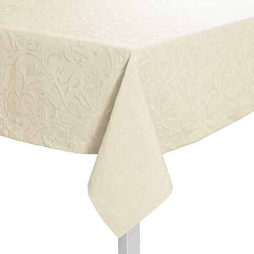 Pichler CORDOBA_140/220_PE hochwertig und bügelfrei - Tischdecke 140 x 220 cm perle