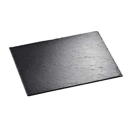 MALACASA, Serie Nature.Slate, 1-teilig Set Schieferplatte Käseplatte 40 x 30 cm 16 Zoll Schiefer Servierplatte Buffetplatte